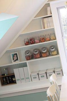 more great ideas for sloped shelves