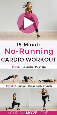 Get fit with this HIIT at home workout video hiit hiit workouts hiit workout videos at home workout videos 15 minute workouts Nourish Move Love Hiit Workout Videos, Best Hiit Workout, 15 Minute Workout, Cardio Workout At Home, At Home Workouts, Workouts Hiit, Cardio Hiit, Workout Routines, Killer Leg Workouts