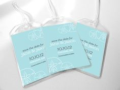 15 Custom Save The Date Wedding Luggage Tags  by sheilamaridesign, $37.50