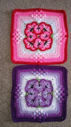 Bobble Crochet, Crochet Square Blanket, Crochet Squares Afghan, Crochet Blocks, Granny Square Crochet Pattern, Granny Squares, Crochet Granny, Crochet Patterns Filet, Crochet Snowflake Pattern