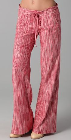 GEORGIE- St. Bart's in Red/White Ikat. Available @Shopbop