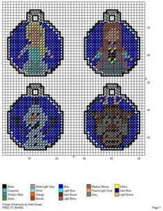 Frozen Character Ornaments