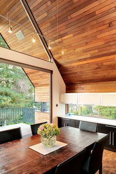 The way the ceiling continues outside the window. Brilliant. Northwest Residence by Coop 15 Architecture