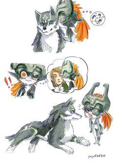 Midna kissing Wolf Link is just too CUTE! The Legend Of Zelda, Legend Of Zelda Memes, Legend Of Zelda Breath, Zelda Twilight Princess, Image Zelda, Character Art, Character Design, Princesa Zelda, Chibi