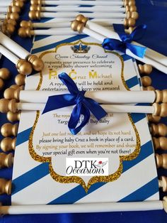 Scroll invitation fit for a prince. dtkoccasions.com