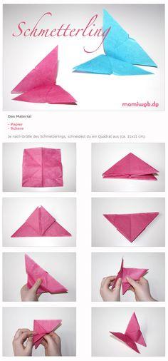 Mamiweb.de - Deko: Schmetterlinge falten