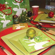 Great holiday table setting ideas and wrapping paper from Caspari @Anne Caspari  #caspari