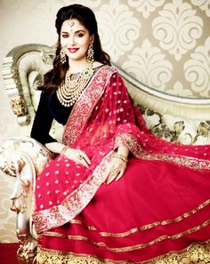 Bollywood Mega Star Madhuri Dixit, makes every heart skip a beat with this Gorgeous Bridal Look! You can find amazing Designer Bridal Trousseau on http://www.myweddingbazaar.com/bridal-lounge.php
