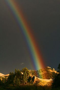 Evening Rainbow by Peggy Ray