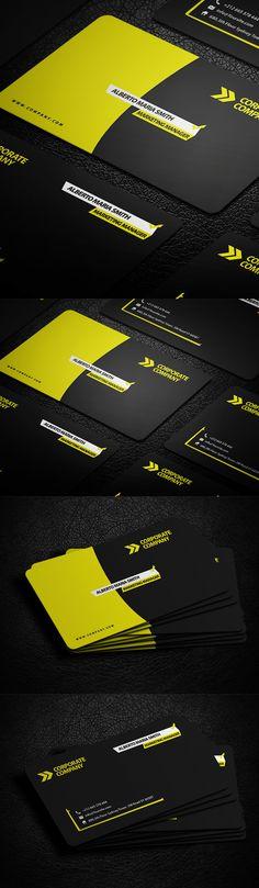 Corporate Business Card #businesscards #psdtemplates #corporatedesign #businesscarddesign