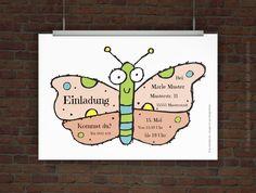 © Druckeselbst! Kostenlose Kindergeburtstagseinladung