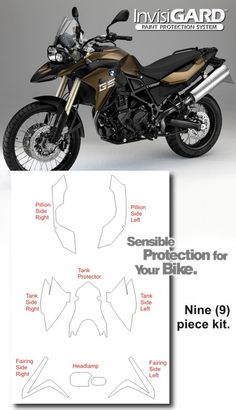 BMW F 800 GS InvisiGARD Invisible Clear Paint and Headlight protection kits
