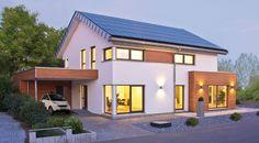 Fertighaus mit Satteldach – wie zwei kubische Anbauten den Charakter eines Hauses verändern | Fertighaus, Fertighäuser und Holzhäuser
