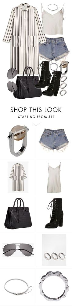 """""""Untitled #20310"""" by florencia95 ❤ liked on Polyvore featuring Jil Sander, Levi's, Monki, Beautiful People, Yves Saint Laurent, Kendall + Kylie, ASOS, Eddie Borgo and Chanel"""
