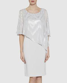 Vestido corto de mujer Gina Bacconi en color plata