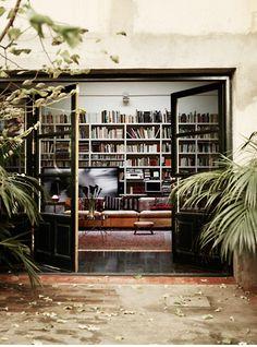 fabulous indoor/outdoor library
