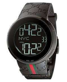 Gucci Watch, Men's I-Gucci Collection Black Rubber Strap 44mm YA114207 - All Watches - Jewelry & Watches