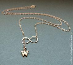 """Золотое ожерелье """"Нежность"""". Очаровательное украшение с подвеской - золотой"""