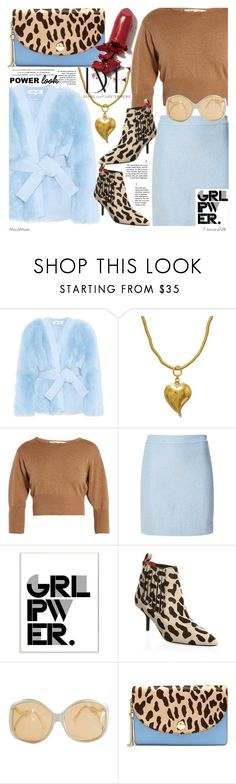 """""""GIRL POWER: Power Look"""" by octobermaze ❤ liked on Polyvore featuring Diane Von Furstenberg, H.Stern, Stupell, LAQA & Co., Vision, girlpower and powerlook"""