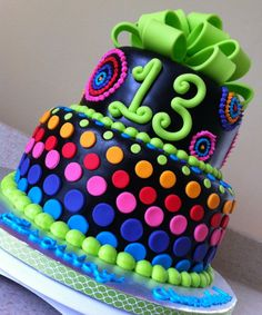 psychedelic rainbow birthday cake ideas for girls Birthday Cake Ideas for Girls