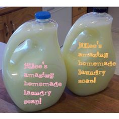 Jillee's Homemade Laundry Soap---I Like this because it is liquid and a smaller batch!! (FYI: This woman is a genius and her blog...amazing!)