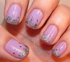 pink with silver glitter