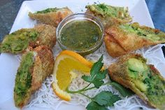 Copycat Cheesecake Factory's Avocado Egg Rolls with Tamarind Cashew Dipping Sauce #Recipe