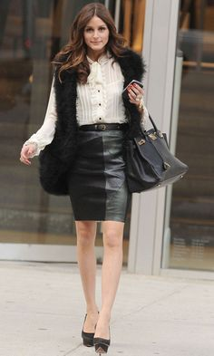 Olivia Palermo Wearing A Topshop Skirt To A Business Meeting, 2010