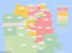 The median rent for a one-bedroom apartment in San Francisco is $3,500, twice as much as Los Angeles
