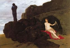 'Ulysse et Calypso', Oil by Arnold Böcklin (1827-1901, Switzerland)