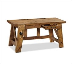 Hendrix Small Smart Technology™ Desk | Pottery Barn for secret room