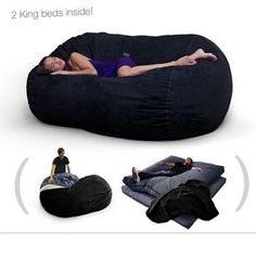 Giant Bean Bag with Bed Inside - Great for Kids or Guests