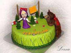 Masha and the Bear. - Cake by Lorna Bear Birthday, Little Girl Birthday, Little Girls, Masha Cake, Masha And The Bear, Bear Cakes, Girl Cakes, Themed Cakes, Birthday Parties