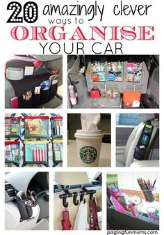 Amazingly Clever ways to Organise your Car 20 amazingly clever ways to organise your car! So many genius ideas! You must have this in your amazingly clever ways to organise your car! So many genius ideas! Organizing Hacks, Car Cleaning Hacks, Car Hacks, Car Life Hacks, Organising Ideas, Road Trip Hacks, Car Essentials, Cute Car Accessories, Travel Accessories