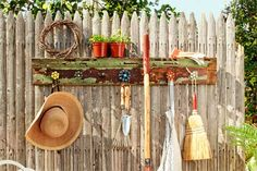 How to Build a Spigot-Handle Garden Tool Rack. | Photo: Laura Moss | thisoldhouse.com