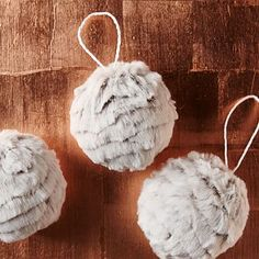 Faux Fur Ornament #westelm