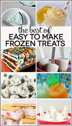 The Best of Easy to Make Frozen Treats for Summer!
