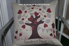 Family Tree cushion from https://www.facebook.com/Babas.Sew.Creative/