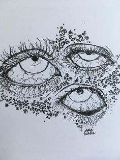 weird creepy eyes print black and white sketch of abstract etsy - abstract eye sketch Indie Drawings, Creepy Drawings, Creepy Art, Art Drawings Sketches Simple, Weird Art, Creepy Eyes, Strange Art, Sketches Of Eyes, Creepy Sketches