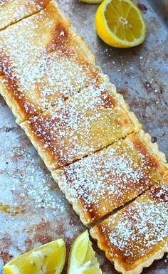 lemon shortbread tart