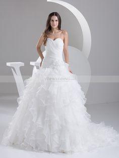Rachelanne - palloncino senza spalline abito da sposa in raso con cristallo