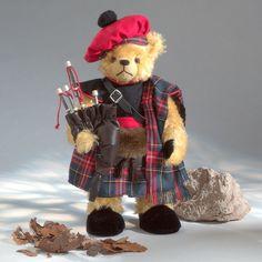 Bagpiper - Dudelsackspieler Teddybär - Teddy-Fabrik - Der offizielle HERMANN-Coburg Teddy-eShop