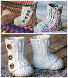 Crochet Baby Snow Boots Free Pattern Video Tutorial