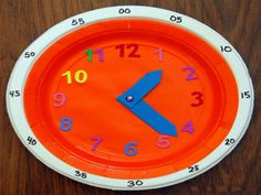 DIY Clock for Teaching Time. Would be awesome to make with kids and keep in desks for time reading drills. Teaching Time Clock, Learning Clock, Fun Learning, Toddler Learning, Make A Clock, Clock For Kids, Diy Clock, Homemade Clocks, Paper Clock