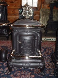 Old heating stove for a house.
