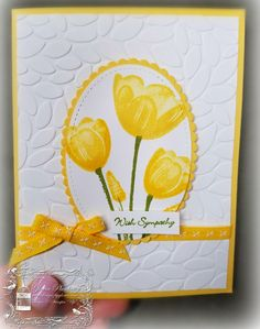 Tranquil Tulips Hostess Set by Gloria Plunkett  Great Sympathy or any occasions card!