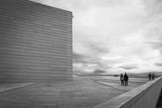 """Walking at Operahuset"" by J.A.Gutierrez Photo"