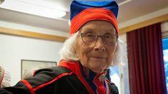 Eugenia Skårpa i Gällivare kragkolt och mössa