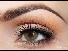 Дневной макияж для зеленых глаз - YouTube