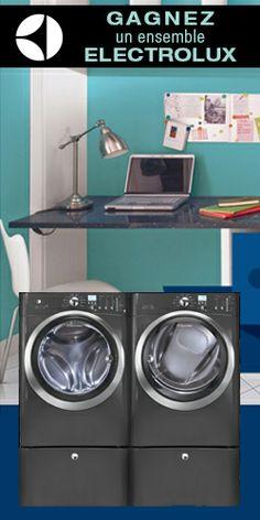 Gagnez un ensemble laveuse-sécheuse Electrolux. Fin le 30 avril.  http://rienquedugratuit.ca/concours/laveuse-secheuse-electrolux/